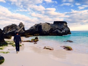 My husband and I walked Horseshoe Bay, Bermuda
