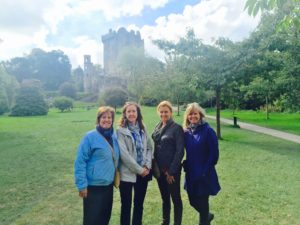 At Blarney Castle. Left to right is Lindsay, Brenda, Laura and me.